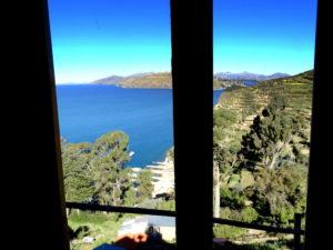vue de la chambre Las Cabanas Isla del Sol