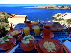 Petit Déjeuner avec vue Isla del Sol