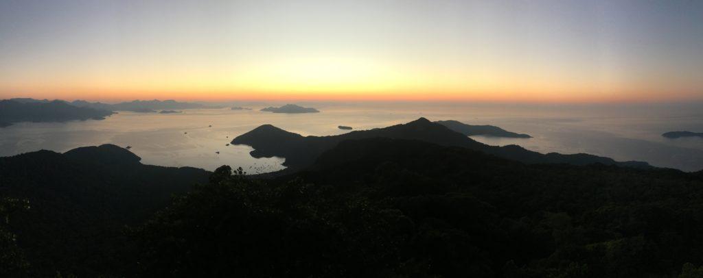 pico de papagayo ilha grande